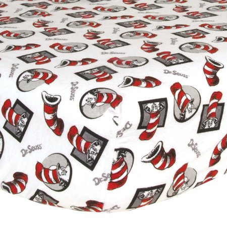 Trend Lab Dr. Seuss Cat in the Hat Flannel Crib Sheet