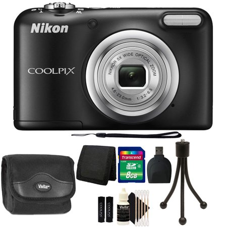 Brand New Nikon COOLPIX A10 16.1 MP Compact Digital Camera (Black) + Great Value - 12 Mp Black Camera