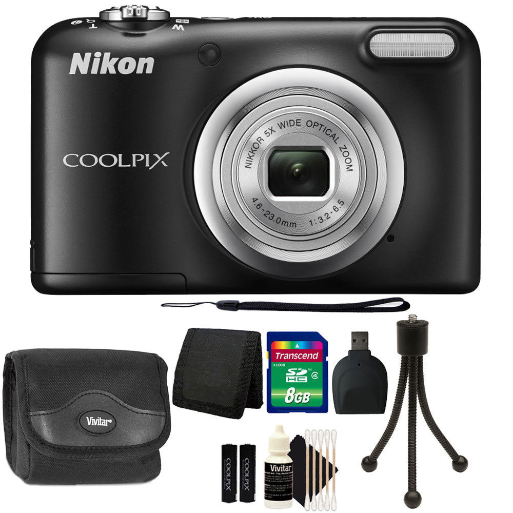Brand New Nikon COOLPIX A10 16.1 MP Compact Digital Camera (Black) + Great Value Bundle