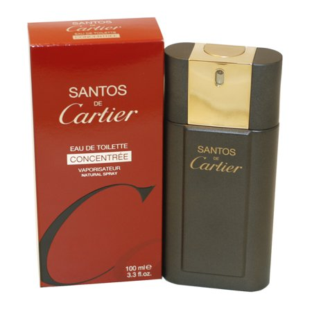 Santos De Cartier Eau De Toilette Spray Concentree 3.3 Oz