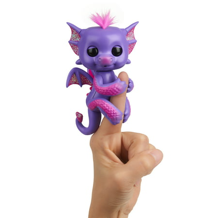 Toddler Dragon (Fingerlings - Glitter Dragon - Kaylin (Purple with Pink) - Interactive Baby Collectible Pet - By)