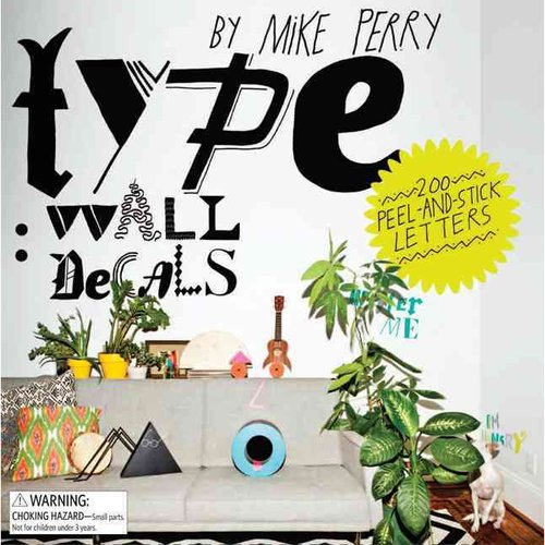 Type: Wall Decals: 200 Peel-And-Stick Letters