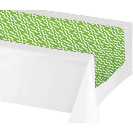 Creative Converting Fresh Lime Green Table Runner, each