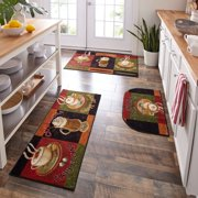 Mohawk Home New Wave Caffe Latte Primary Kitchen Mat, Set of 3, Multiple Sizes