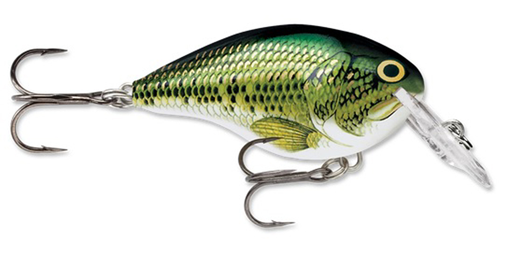 "Rapala Dives-To Series Custom Ink Lure Size 04, 2"" Length, 4' Depth, 2 Number 6 Treble Hooks, Baby Bass, Per 1 by Rapala"