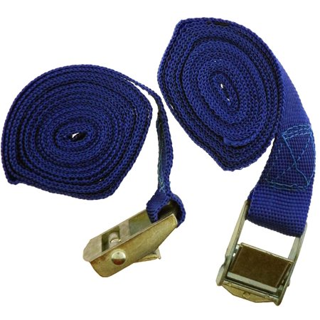 2 Piece Ratchet Tie Down, Straps - 1