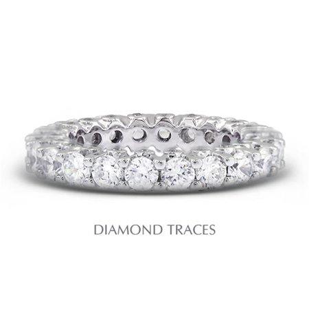 UD-EWB460-1093 14K White Gold Prong & Bezel Setting 3.05 Carat Total Natural Diamonds Modern Eternity Ring