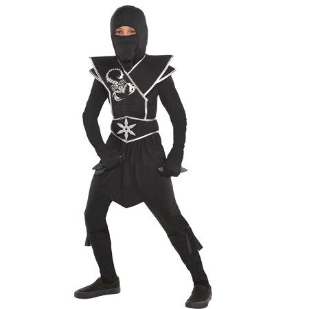 Suit Yourself Black Ops Ninja Costume for Boys, Includes a Jumpsuit, a Face Scarf, a Ninja Star, and More