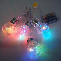 Christmas Light Bulbs Fairy String Lights, 4-Bulb, Multi-Color, 48-Inch