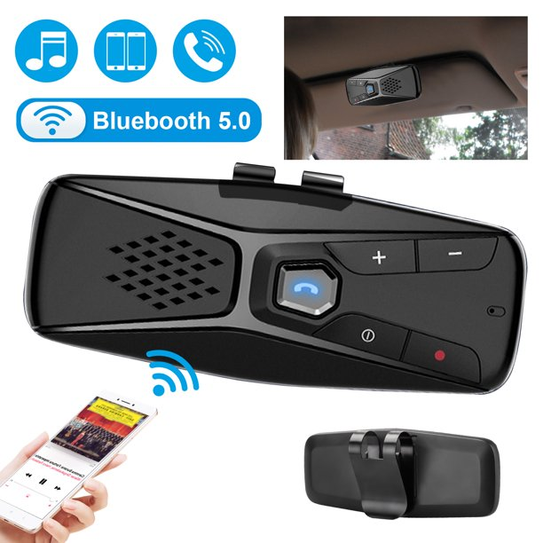 Tsv Wireless Car Speakerphone Bluetooth 5 0 Hands Free Call Speakerphone Stream Music Stereo Sound Connection With Android Ios Devices 20 Hours Working Time Walmart Com Walmart Com
