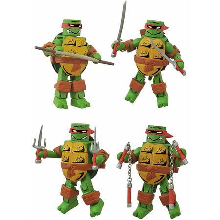 Diamond Select Toys Teenage Mutant Ninja Turtles Mirage Minimates Box Set, Leonardo, Donatello, Michelangelo and - Teenage Mutant Ninja Turtles Leonardo