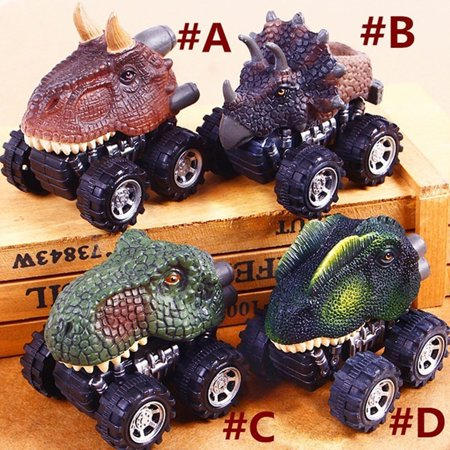 Iuhan 4PC Children's Day Gift Toy Dinosaur Model Mini Toy Car Back Of The Car Gift ()