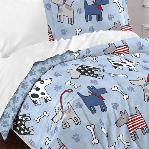 Zoomie Kids Lynnette 100pct Cotton 2 Piece Reversible Comforter Set