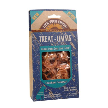 Chops Chicken - Lick Your Chops Treat - Umms Dog Treats - Chicken Calamari - Case Of 6 - 2.5 Oz.
