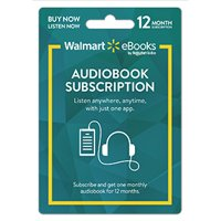 Walmart eBooks Audiobook Subscription ? 12 Months (email delivery)