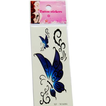 Waterproof Temporary Tattoos 3D Butterfly Flower Fake Tattoos