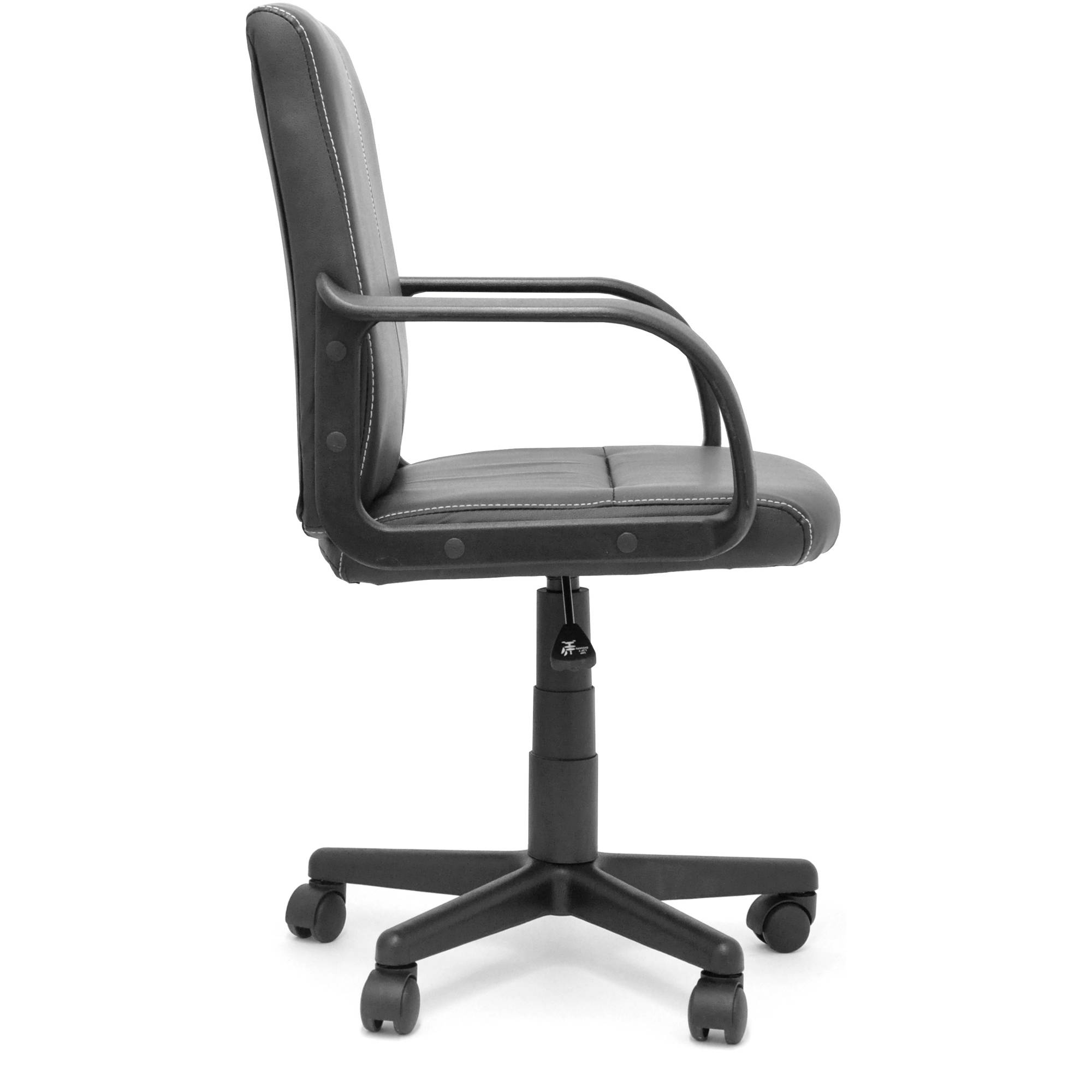Mainstays Leather Mid Back Rolling Office Chair, Multiple Colors   Walmart .com