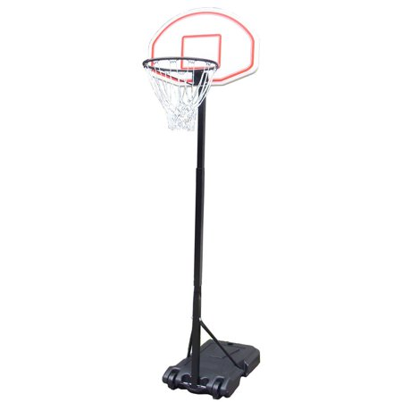 Ktaxon Portable 5.4 ft to 6.7ft Height Adjustable Basketball Hoops Goal  Stand Backboard System with Wheels for Kids Youth Backyard Indoor Outdoor  Use ... 00b7b6632c