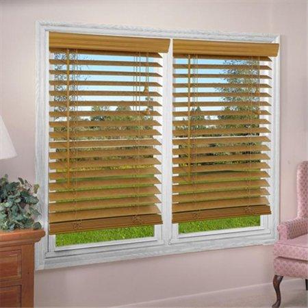Dez Furnishing Qalo720640 2 Inch Faux Wood Blind Light Oak 72 W X 64 L Inch