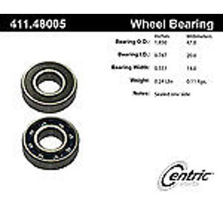 (Centric 411.48005E Standard Axle Ball Bearing)