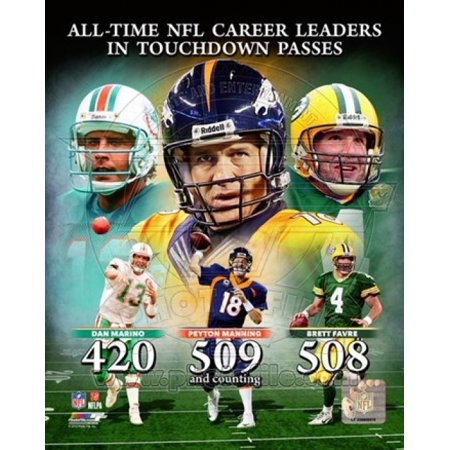 Peyton Manning NFL All-Time leader in career Touchdown Passes Composite Sports