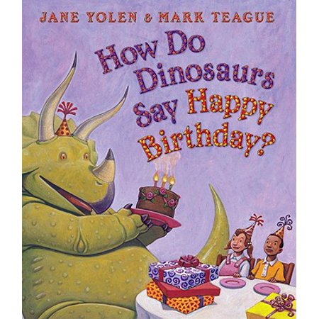 How Do Dinosaurs Say Happy Birthday (Board Book) - Happy Birthdag