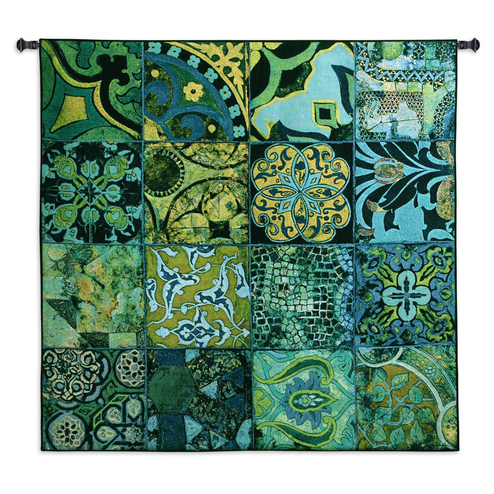 Click here to buy Fine Art Tapestries Colbalt Mosaic I Wall Tapestry by Supplier Generic.