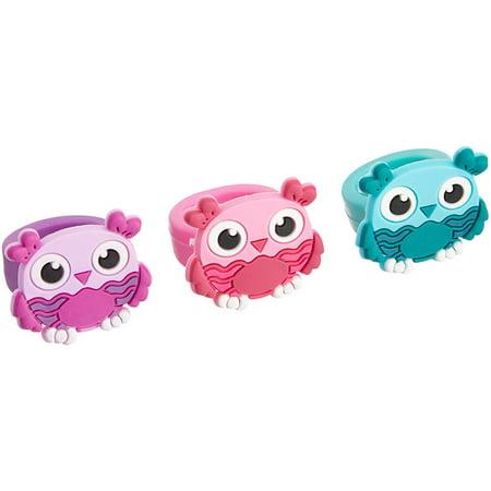 Owl Rubber Rings (Bulk Pack of 12 Rings)