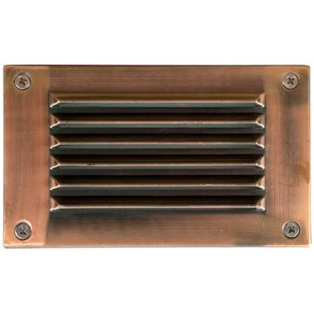 Acp Antique - Dabmar Lighting LV675-ACP Cast Aluminum Recessed Louvered Brick, Step & Wall Light, Electro-Plated Antique Copper - 4.88 x 6.50 x 2.63 in.