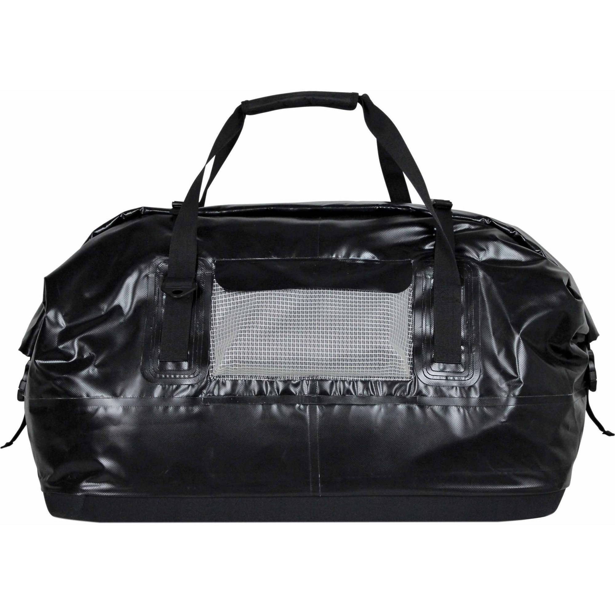Extreme Max Dry Tec Large/110-Liter Waterproof Roll-Top Duffel Bag, Black