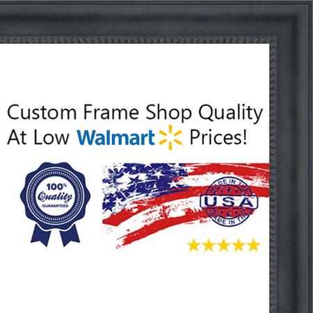12x18 - 12 x 18 Black Castle Solid Wood Frame with UV Framer\'s ...