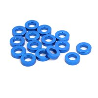 15pcs 1.5mm Thickness M3 Aluminum Alloy Flat Fender Screw Washer Royal Blue