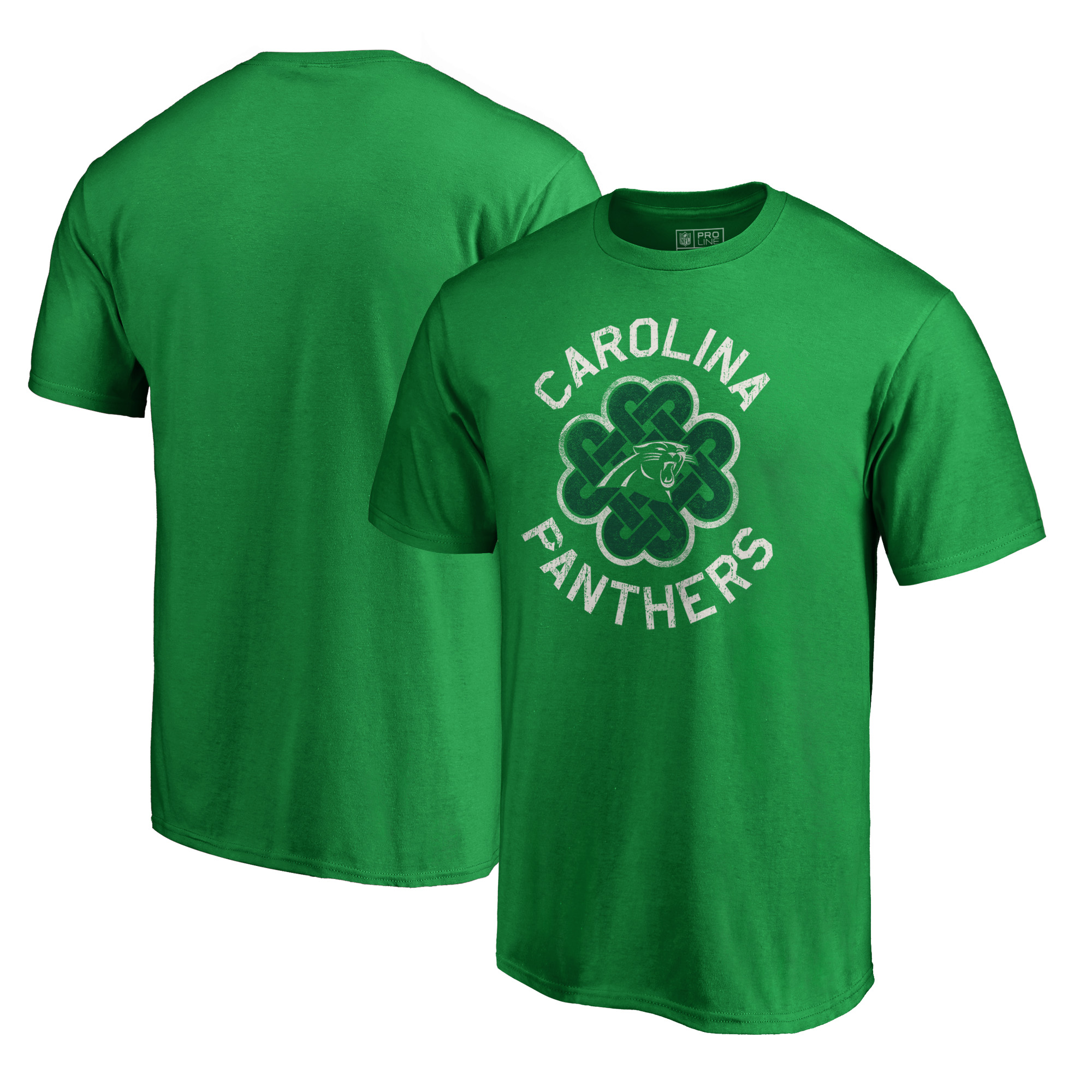 Carolina Panthers NFL Pro Line by Fanatics Branded Big & Tall St. Patrick's Day Luck Tradition T-Shirt - Green