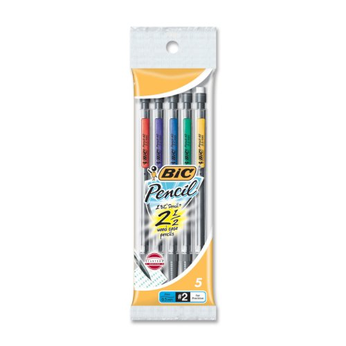 Bic Grip Mechanical Pencil #2 Pencil Grade 0.5 Mm Lead Size Black Lead 5   Pack (MPFP51) by Bic Corporation