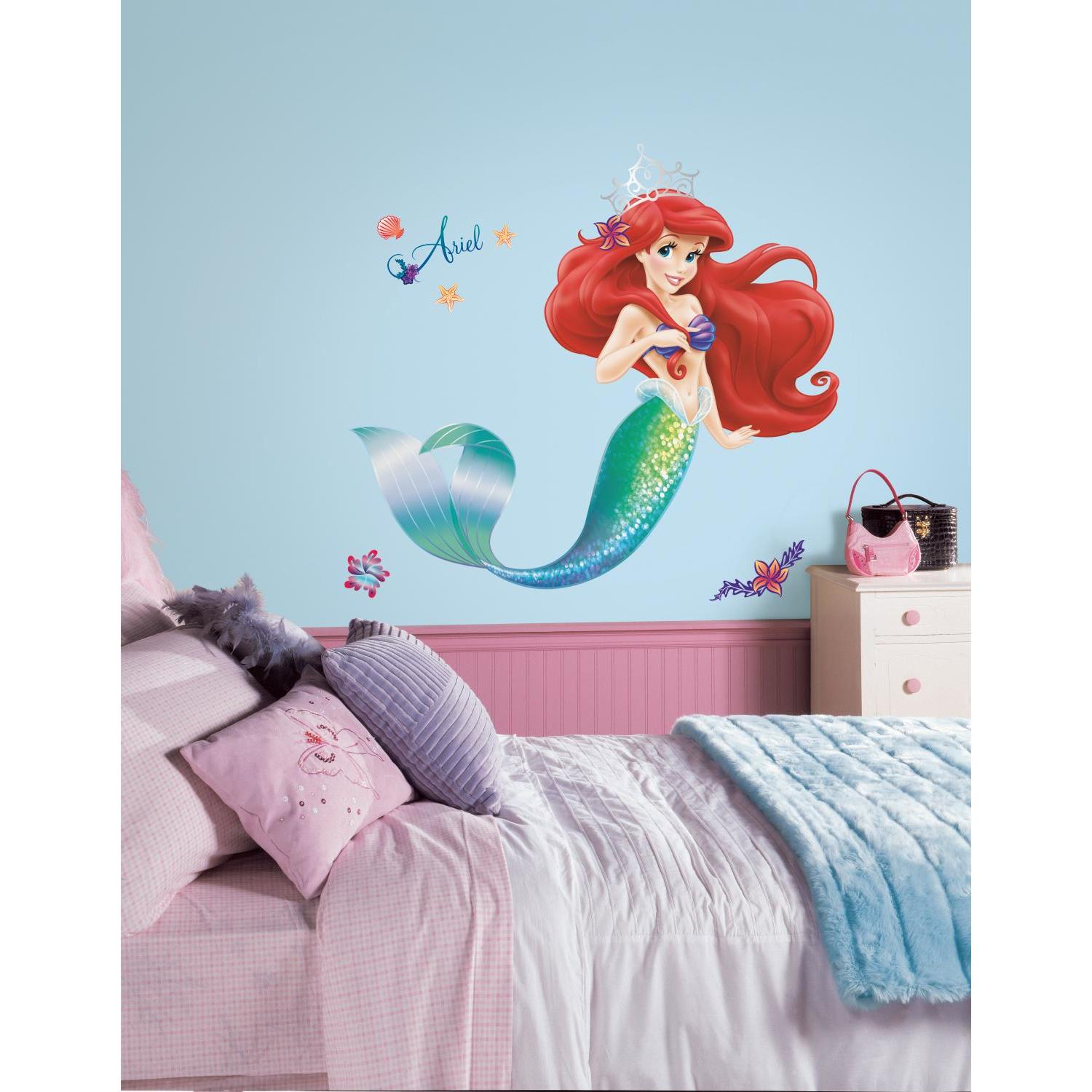 ARIEL The LITTLE MERMAID wall stickers Disney Princess MURAL 21 wall decals Girls Room Decpr