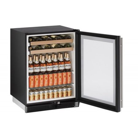 - U-Line 1000 Series Reversible Stainless Steel 24-inch 5.4 cu. ft. Undercounter Beverage Center