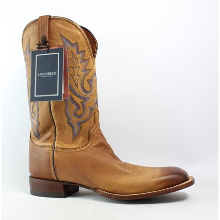 Lucchese Mens Kd6505.Wf Tan Burnished Cowboy, Western Boots Size 13