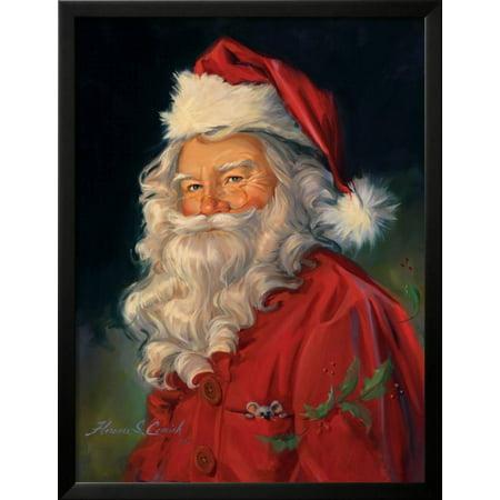 Santa Framed Print Wall Art By Susan Comish - Walmart.com
