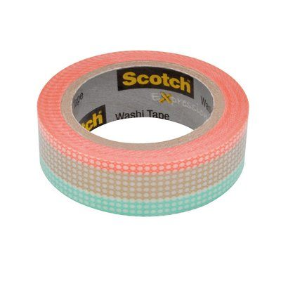 "Scotch 0.59"" Pastel Tile Expressions Washi Tape, 393"""