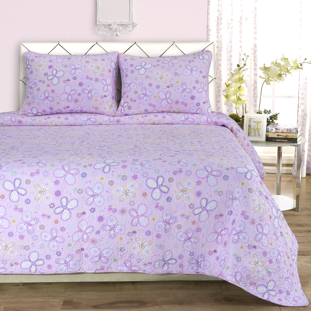 Amy Quilt Set, Twin, Pink