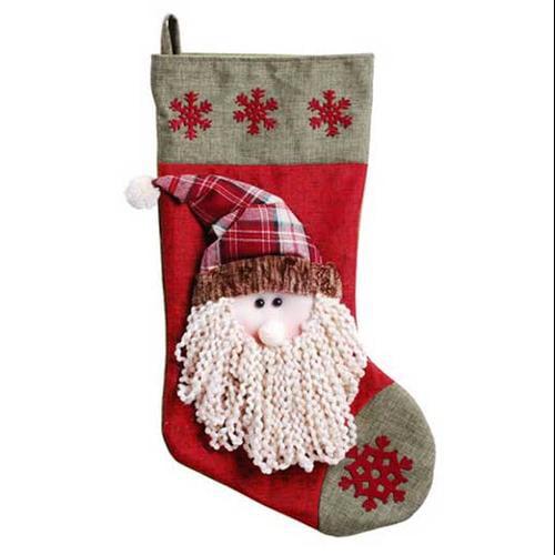 "23"" Santa with Beard Christmas Stocking"