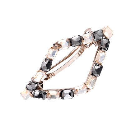 Colour Rhinestone Spring Hairpin Women Hollow Bowknot Hair Clip Girls Alloy Headwear Barrette - image 2 de 9