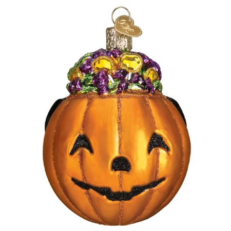 Old World Christmas Trick or Treat Pumpkin Halloween Ornament 26083 FREE BOX - Trick Or Treat Halloween Pumpkin