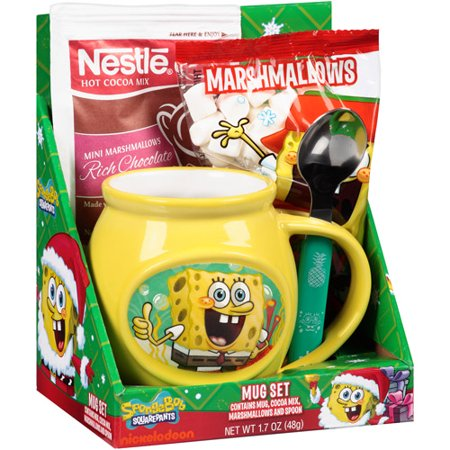 Spongebob Hello Kitty Mickey Or Spiderman Mug With Nestle Cocoa
