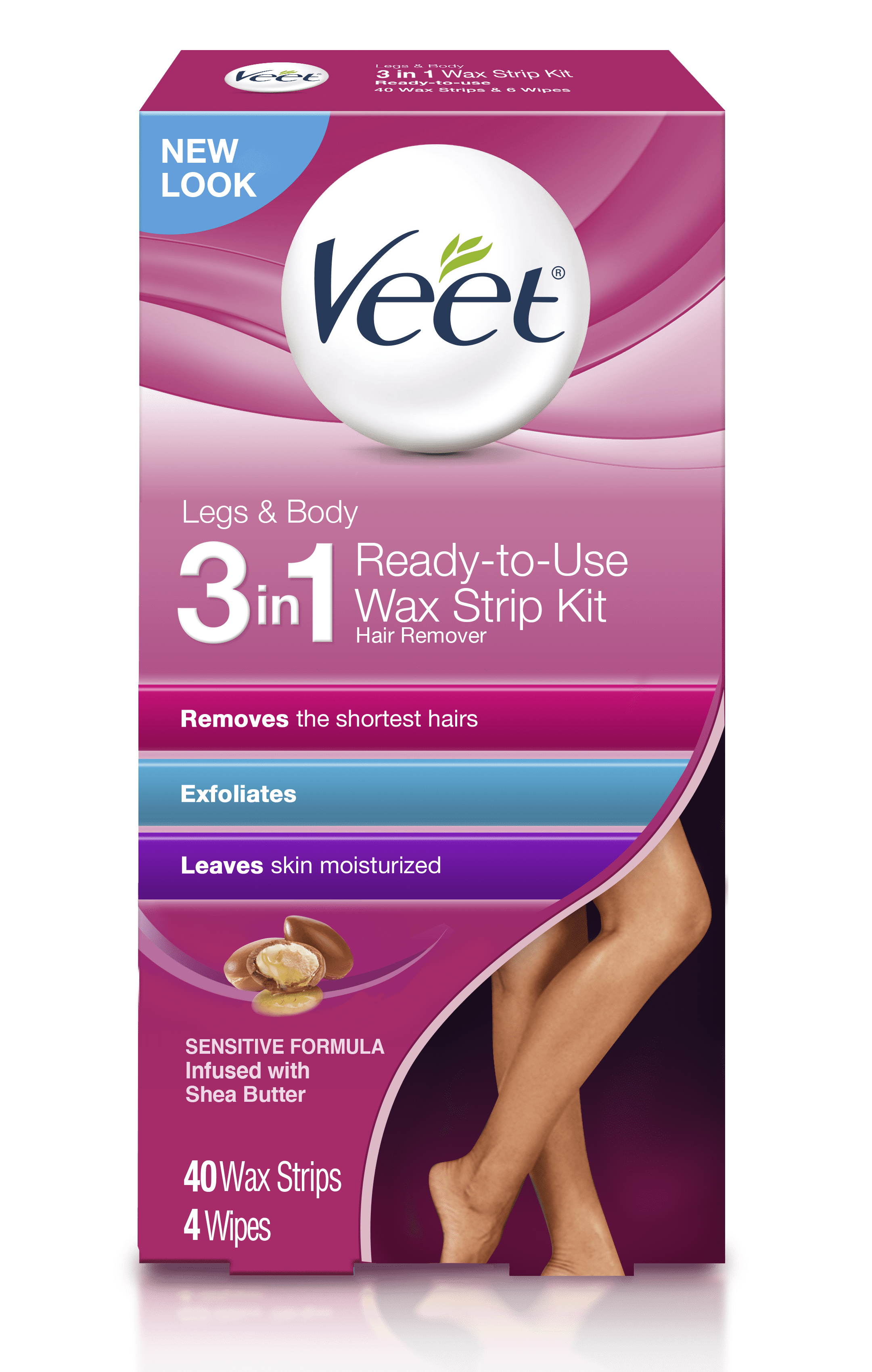 Hair Removal Wax Strips Veet Easy Gelwax Technology Sensitive