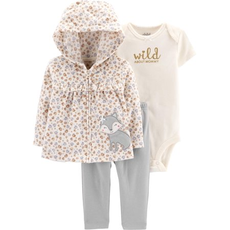 7537f1633 Child of Mine by Carter s - Hooded Babydoll Cardigan