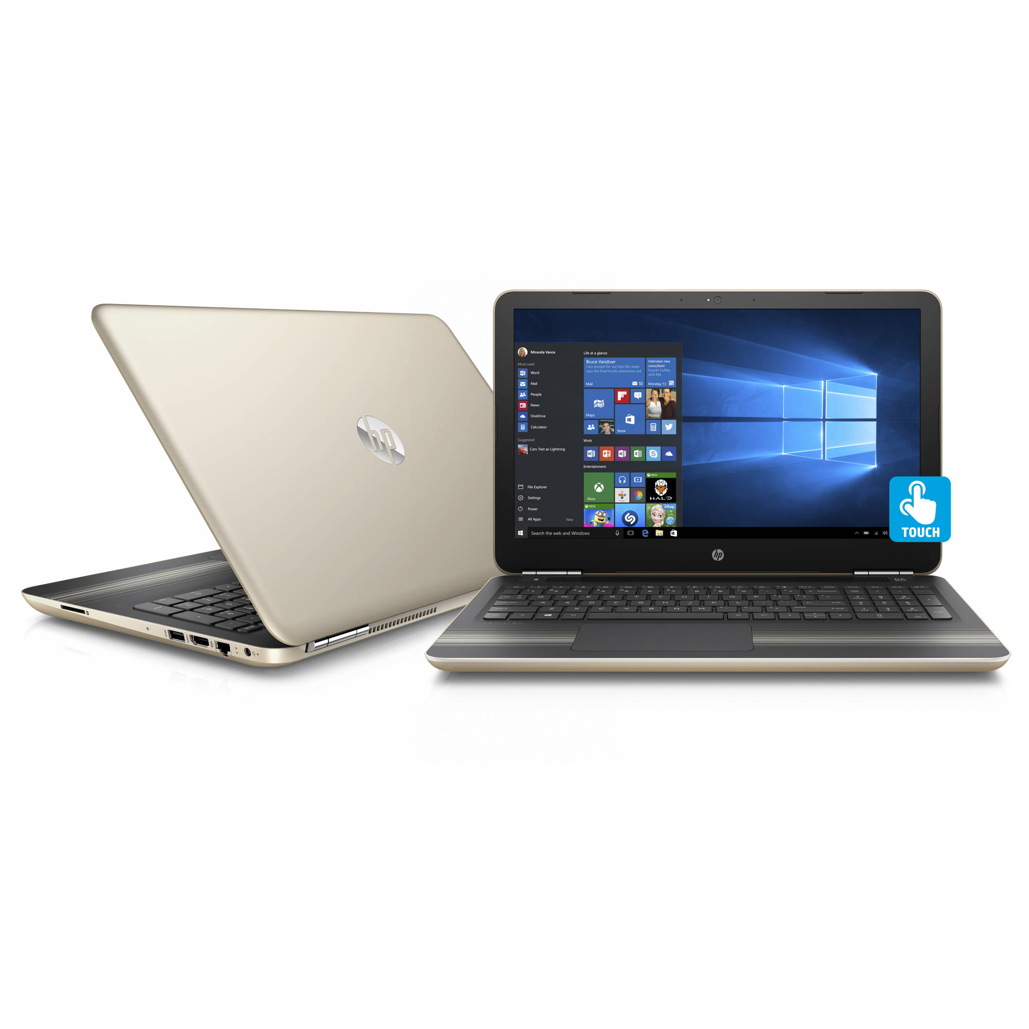 "HP Pavilion 15-au030wm 15.6"" Manhattan Gold Laptop, Touch Screen, Windows 10,  Intel Core i5-6200U Processor, 8GB Memory, 1TB Hard Drive"