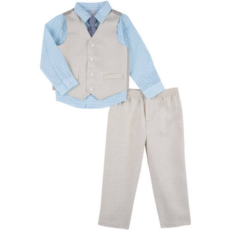 George Toddler Boy Linen Like Dress Set