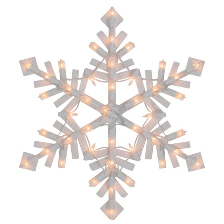 Lighted Snowflake Christmas Window Silhouette - 15.5 Inch