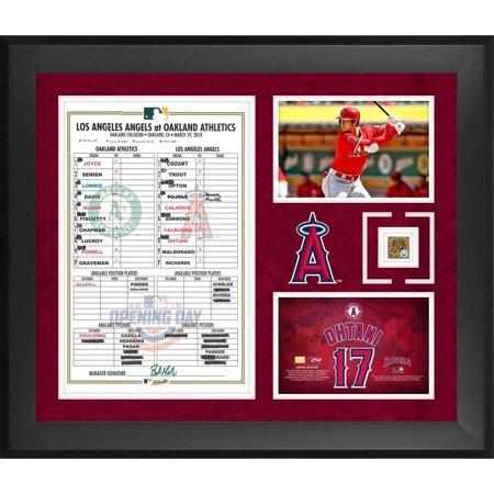 Angels Baseball Memorabilia - Shohei Ohtani Los Angeles Angels Framed 20